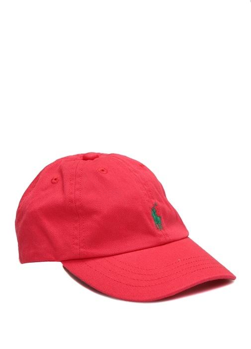 Kırmızı Logo Nakışlı Erkek Bebek Şapka