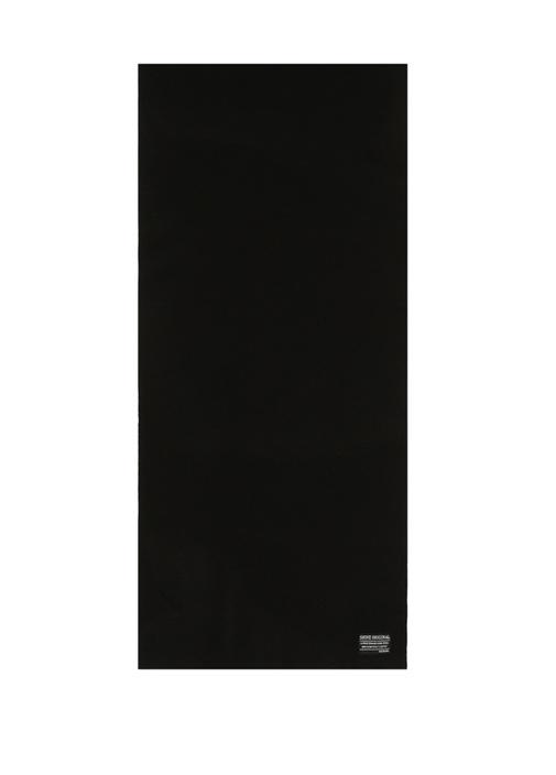 Siyah Dokulu Logolu Erkek Atkı
