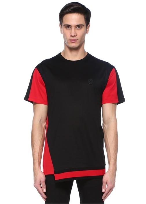 Siyah Kırmızı Logolu Basic T-shirt