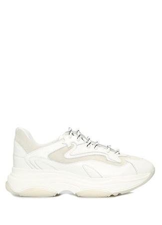 Blender Originated Kadın Beyaz Gri Dikiş Detaylı Deri Sneaker 39