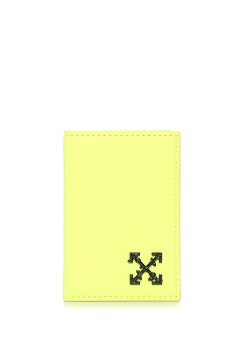 Off-whıte Neon Sarı Logolu Kadın Deri Kartlık – 1949.0 TL
