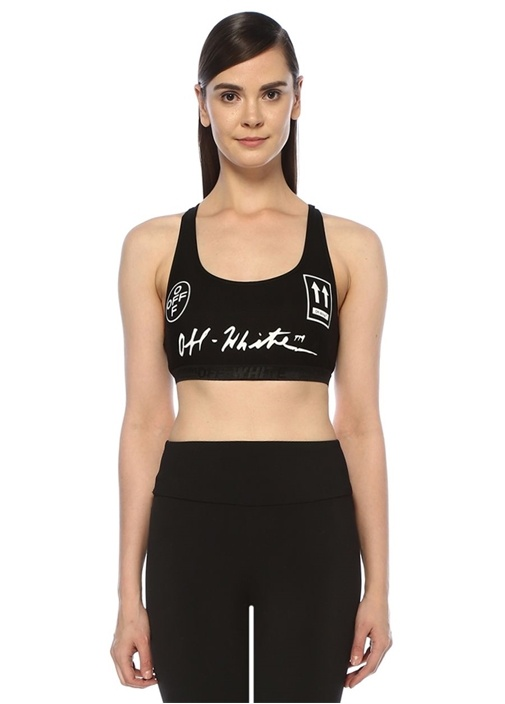 Off-whıte Siyah Logo Baskılı Basic Crop Atlet – 2199.0 TL