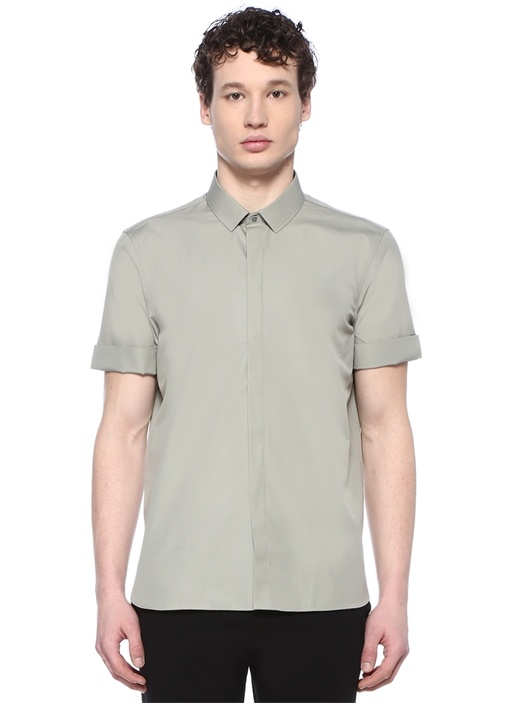 Loose Fit Vizon İngiliz Yaka Gömlek