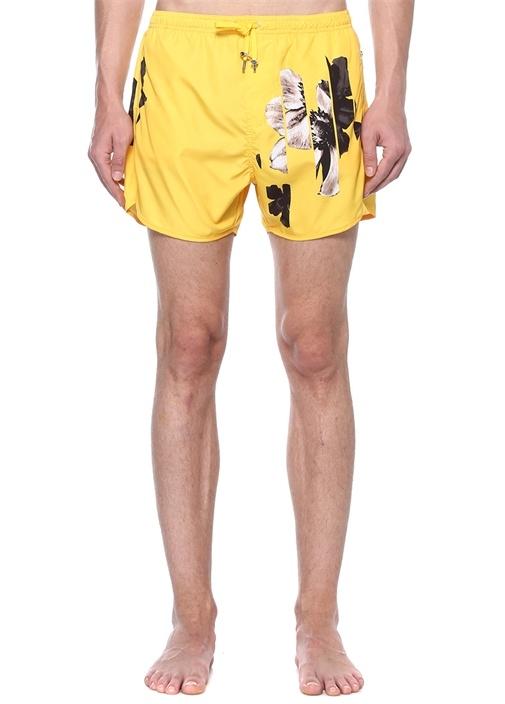 Sliced Anemone Sarı Erkek Mayo