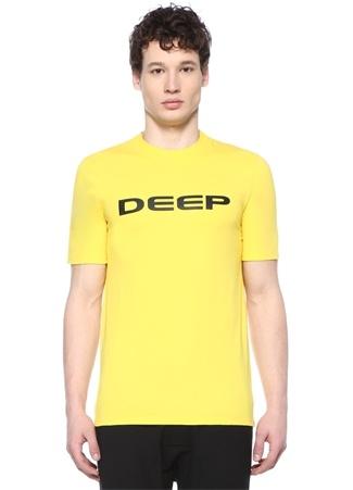 Sarı Baskılı Basic T-shirt