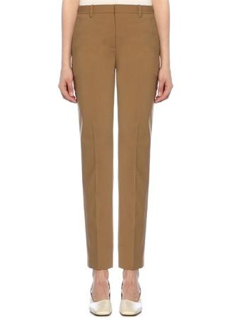 Bej Normal Bel Dar Paça Klasik Yün Pantolon