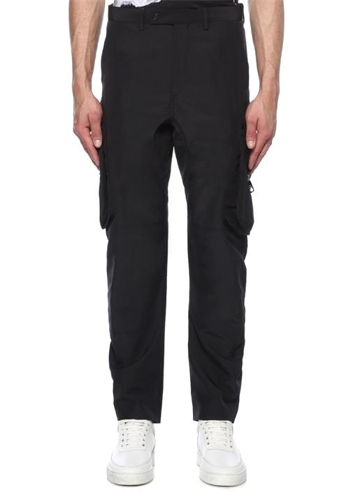 Slouch Fit Siyah Düşük Bel Pantolon