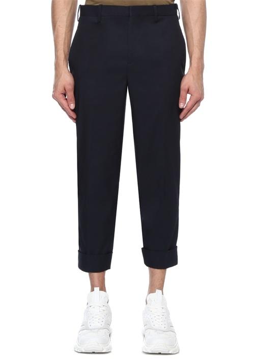 Slim Fit Lacivert Düşük Bel Pantolon
