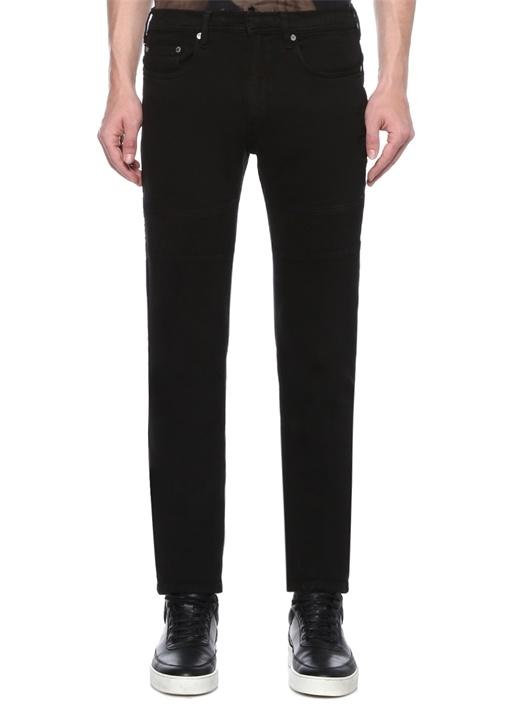 Skinny Fit Siyah Dekoratif Dikişli JeanPantolon