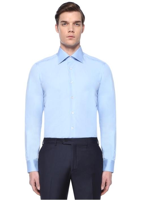 Hegi Mavi İngiliz Yaka Gömlek