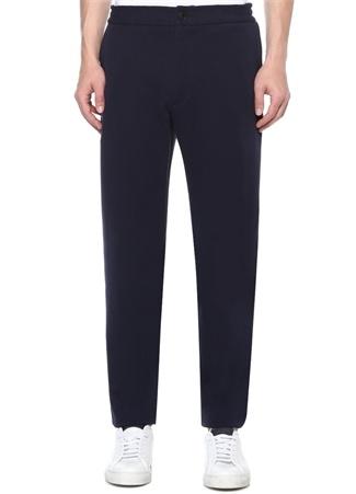 Lacivert Yüksek Bel Dar Paça Pantolon