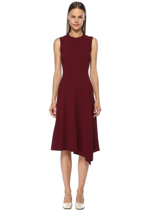 Joseph Meline Bordo Kolsuz Midi Krep Elbise – 2499.0 TL