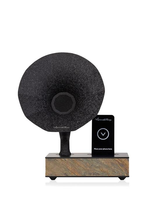 Siyah Gri Akustik Gramofon