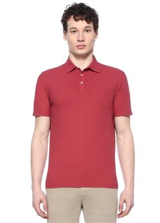 Erkek Kırmızı Polo Yaka T-shirt Bordo XL EU