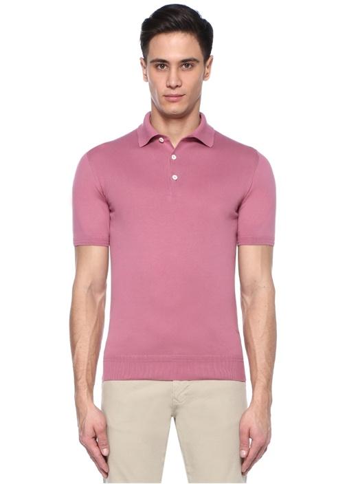 Pembe Polo Yaka T-shirt