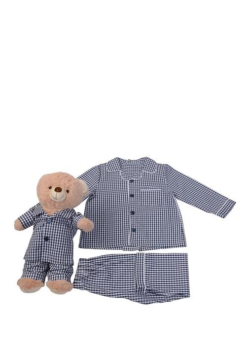 Unisex Çocuk Uyku Arkadaşlı Pijama Seti