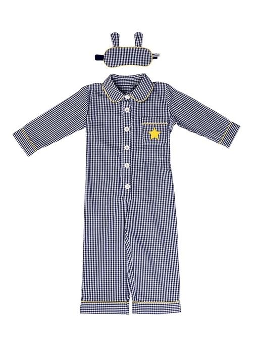 Unisex Çocuk Uyku Gözlüklü Pijama TulumSeti