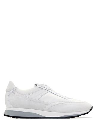 Santoni Sport Erkek Beyaz Deri Sneaker 7 UK male