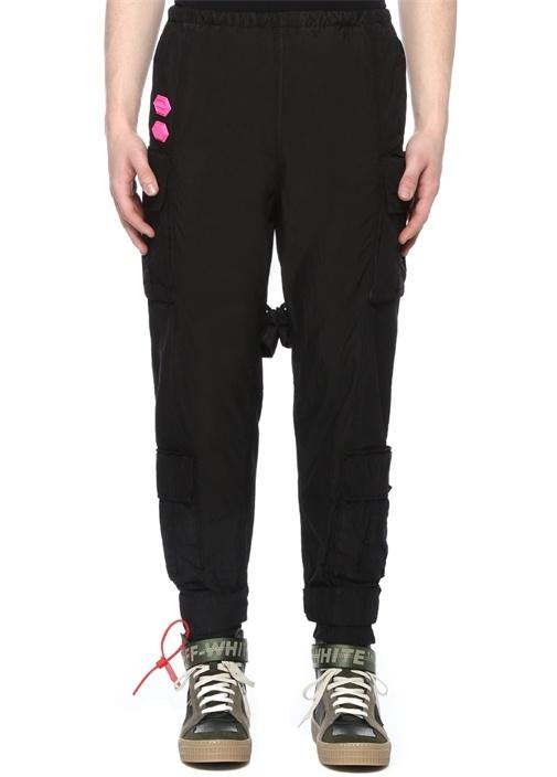 Off-whıte Siyah Yüksek Bel Paça Detaylı Pantolon – 5150.0 TL