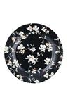 Jolie Siyah Çiçek Desenli Porselen Tabak