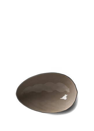Esma Dereboy Siyah Gri Yumurta El Yapımı Büyük Porselen Kase Standart