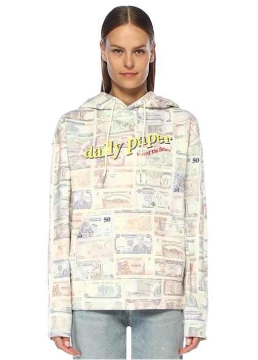 Falis Money Kapüşonlu Oversize Sweatshirt