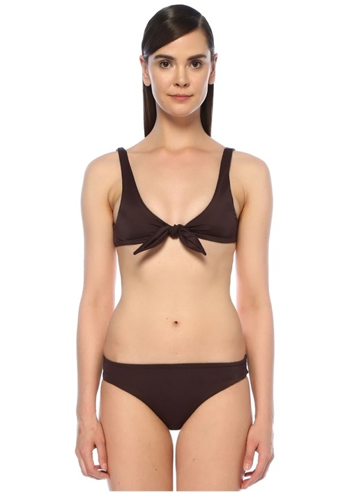 Skye & Staghorn Lila Mor Önü Bağcıklı Bikini Üstü – 999.0 TL