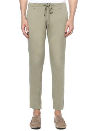 Yeşil Beli Kordonlu Chino Pantolon