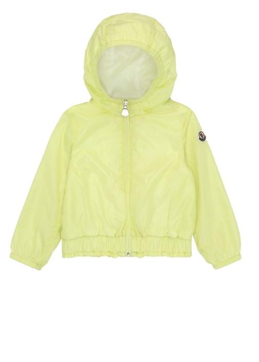 Poema Neon Sarı Kapüşonlu Logolu Kız Bebek Mont