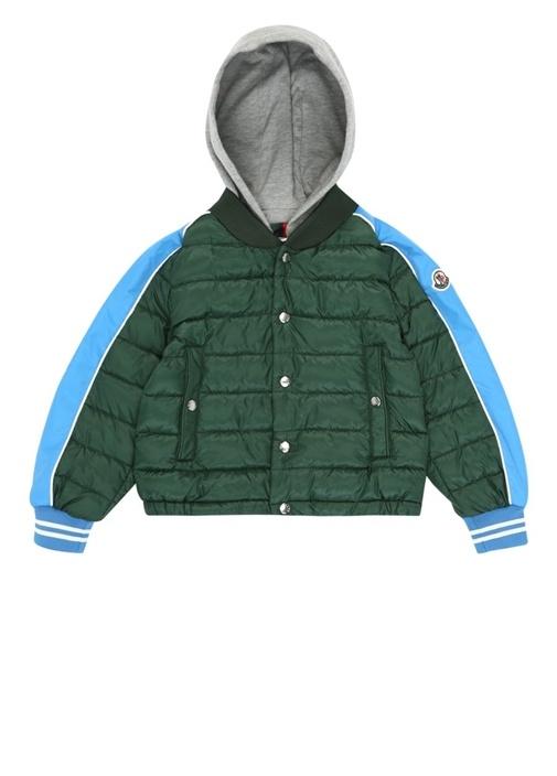 Truyere Yeşil Kapüşonlu Erkek Çocuk Puff Mont