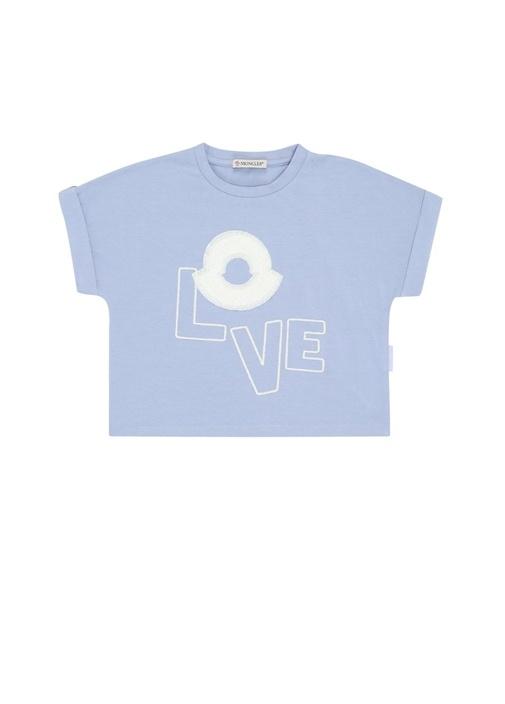Mavi Logo Patchli Kız Çocuk T-shirt