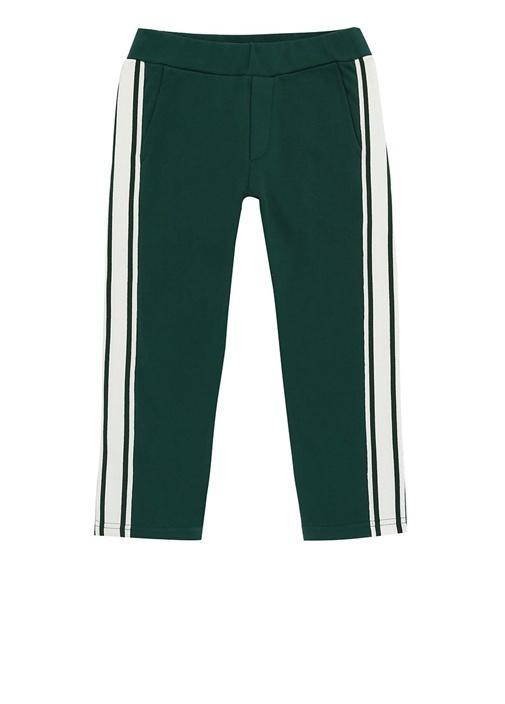 Yeşil Beyaz Yanı Şeritli Erkek Çocuk Pantolon