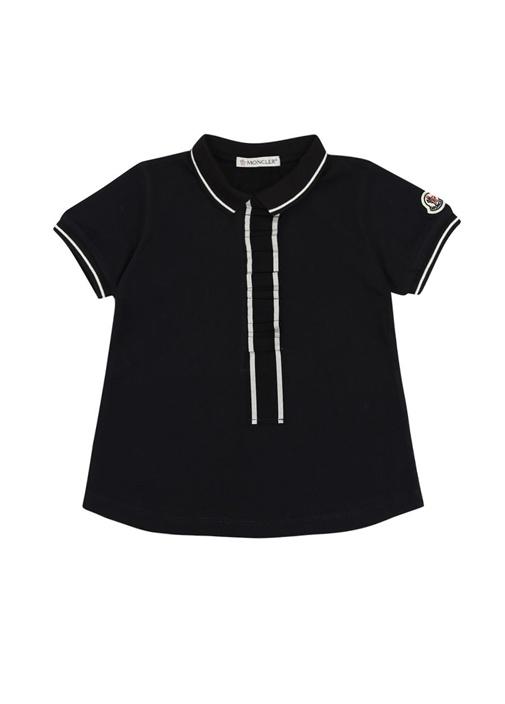 Lacivert Fırfır Detaylı Kız Çocuk T-shirt