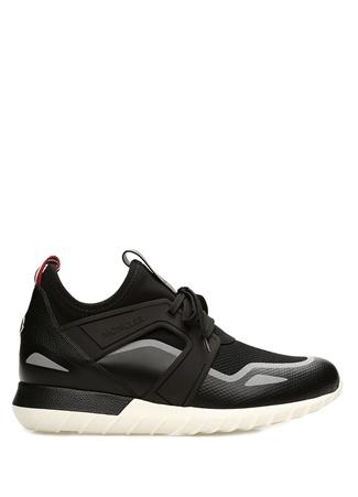 Emilien Siyah Logolu erkek Deri Sneaker