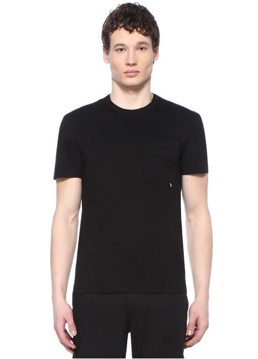 Siyah Bisiklet Yaka T-shirt