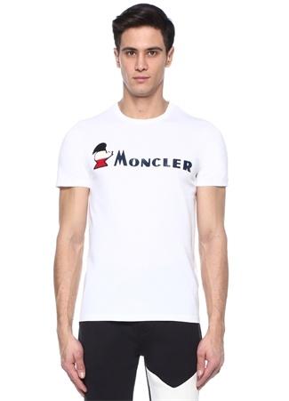 Beyaz Logolu Basic T-shirt