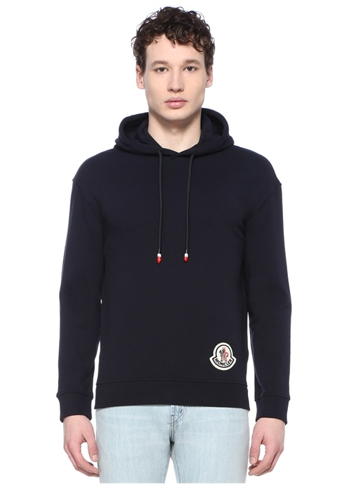 Genius 2 Lacivert Kapüşonlu Logolu Sweatshirt