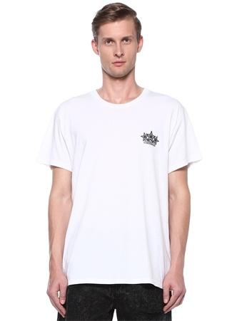 Five Star Beyaz Bisiklet Yaka Baskılı T-shirt