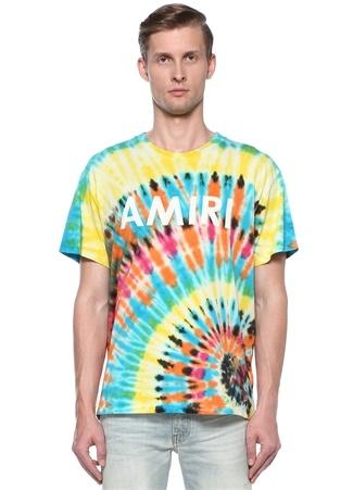 Colorblocked Logo Baskılı Batik DesenliT-shirt