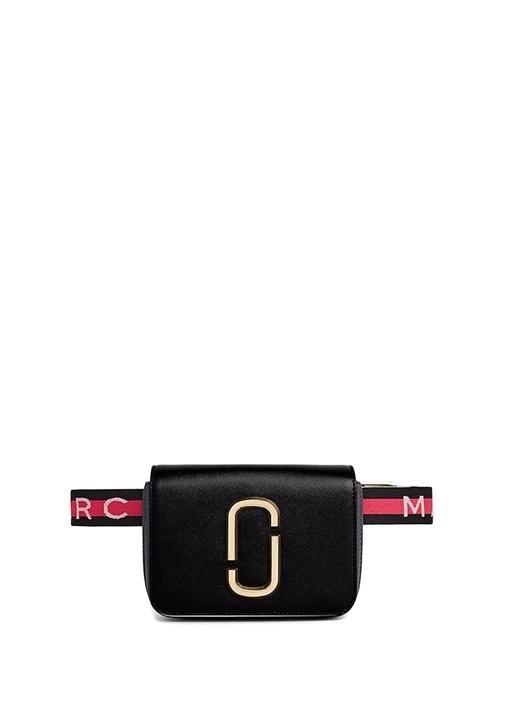 Siyah Logolu Kadın Deri Çanta