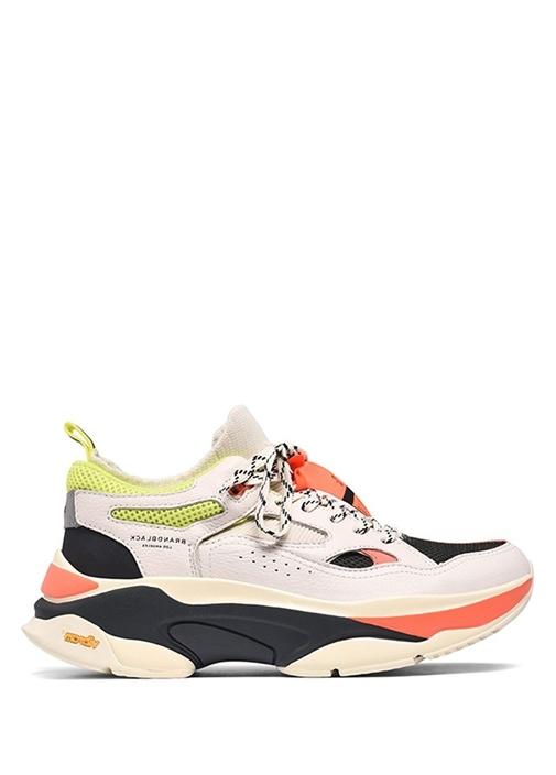 Saga Colorblocked Logolu Erkek Deri Sneaker