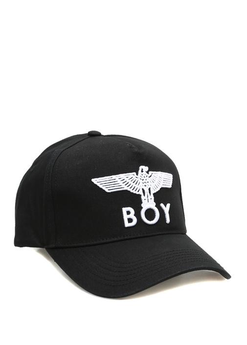 Eagle Siyah Logo Jakarlı Erkek Şapka