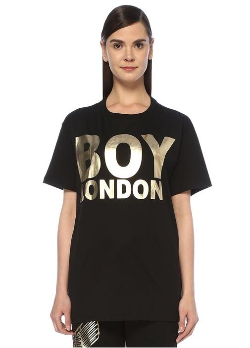 Boy London Siyah Gold Baskılı Oversize T-shirt