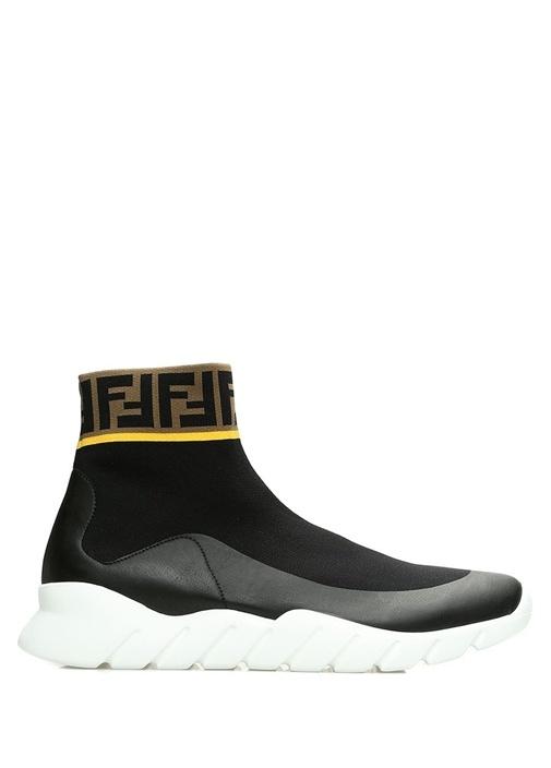 Siyah Şerit Logo Jakarlı Erkek Sneaker