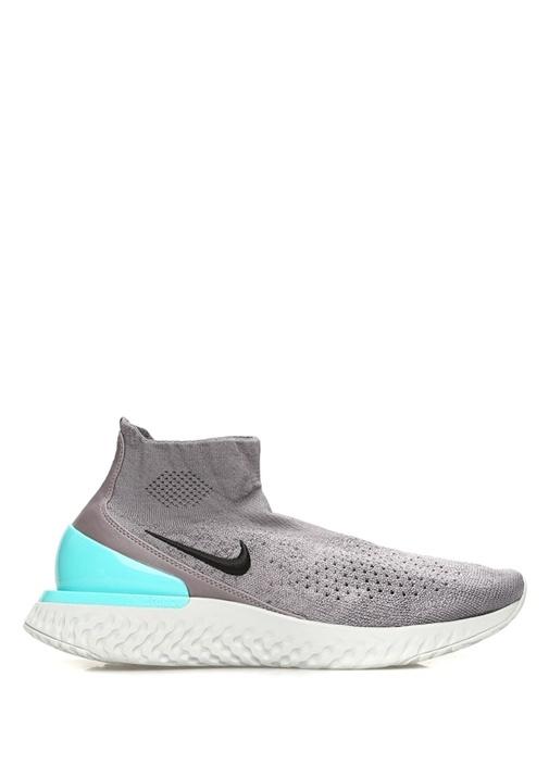 Rise React Flyknit Gri Mavi Erkek Sneaker