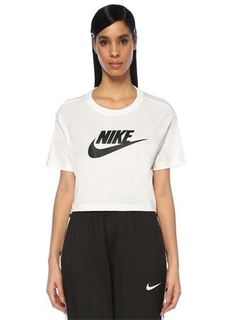 Nike Kadın NSW Essential Beyaz Crop T-shirt L EU