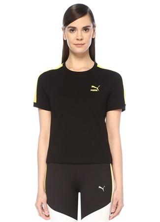 Classics T7 Siyah Sarı Şeritli T-shirt