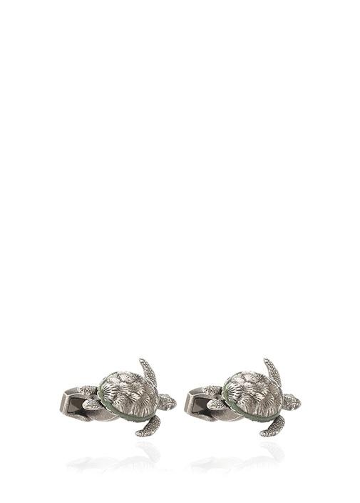 Silver Kaplumbağa Formlu Erkek Kol Düğmesi