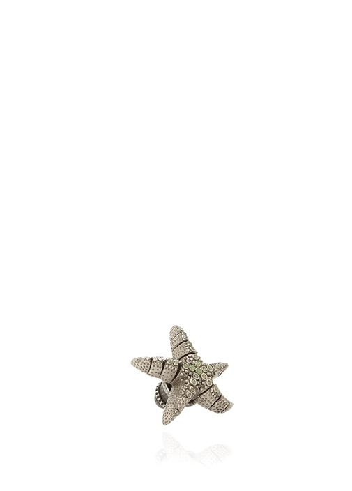 Antrasit Deniz Yıldızı Formlu Erkek Kravat İğnesi