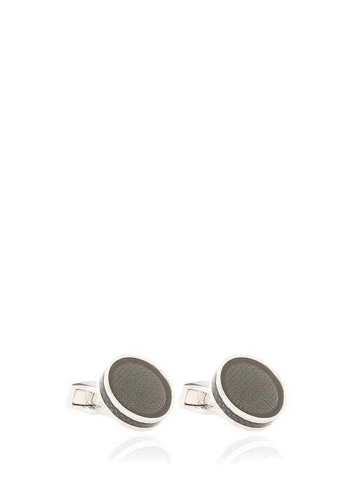 Silver Siyah Mikro Desenli Erkek Kol Düğmesi